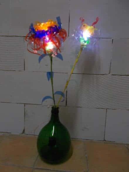 Plastic Glasses & Bottles Flower Lamps