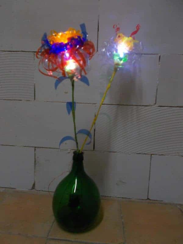 Plastic Glasses Amp Bottles Flower Lamps Recyclart
