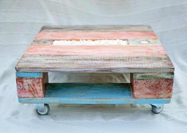 Colorful Pallet Coffee Table Recycled Furniture Recycled Pallets