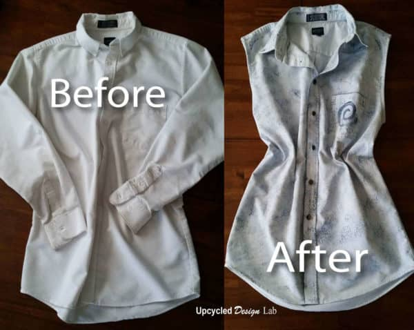 Upcycled Work Shirt Refashion With House Paint Clothing Do-It-Yourself Ideas