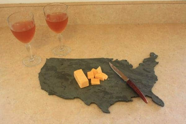 Upcycled Slate Into Cheese Board Accessories