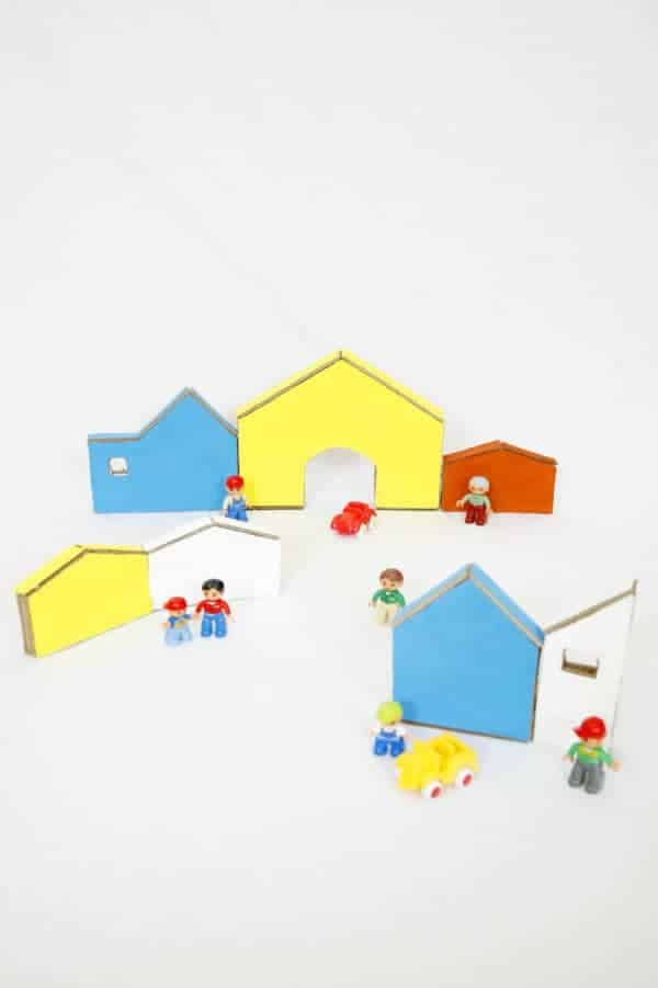 Kids Cardboard Town Do-It-Yourself Ideas Recycled Cardboard