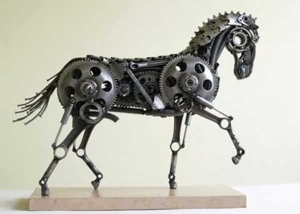 Animal Sculptures Made Out of Scrap Metal By tomas Vitanovsky Recycled Art Recycling Metal