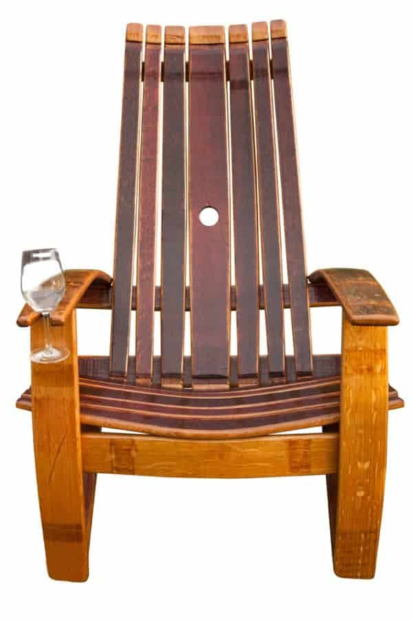 Oak Wine Barrel Adirondack Chair Recycled Furniture