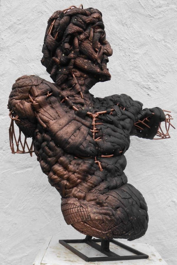 'adam' Recycled Tires Sculpture Recycled Art Recycled Rubber