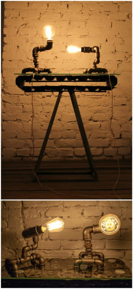 Sprocket Table & Hydro Lamps