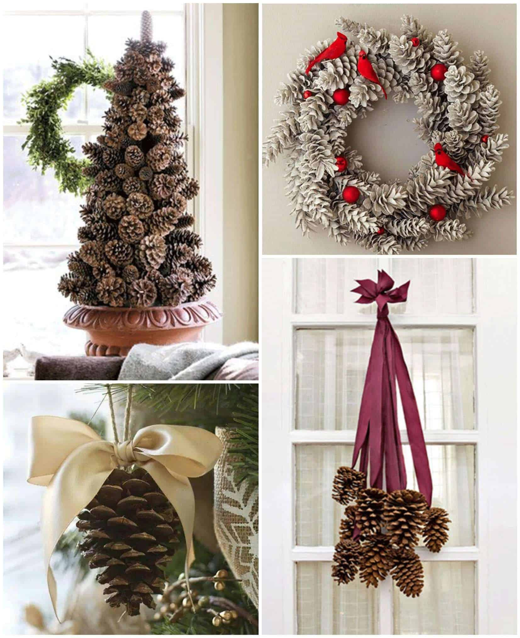 Diy Christmas Décor Ideas Using Pine Cones • Recyclart