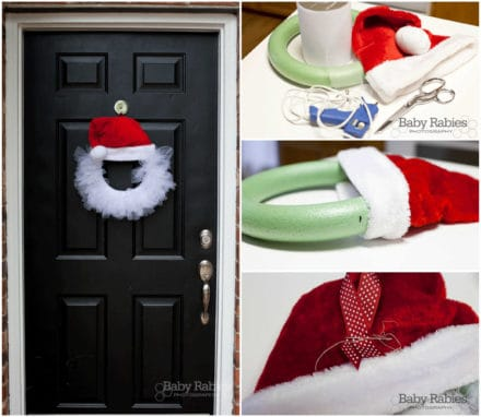 Diy: Santa Wreath