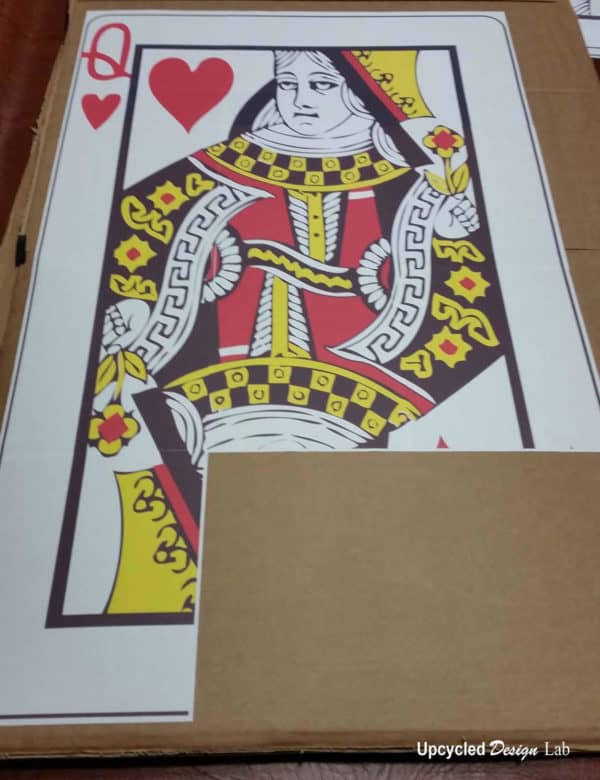 Last Minute Queen Of Hearts Card Costume Upcycled Free Printable Do-It-Yourself Ideas
