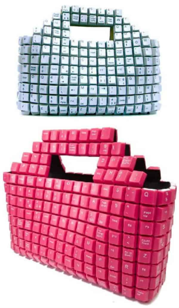 10 Creative Ways Of Upcycling Keyboard Keys Recycled Electronic Waste