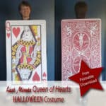 Last Minute Queen Of Hearts Card Costume Upcycled Free Printable