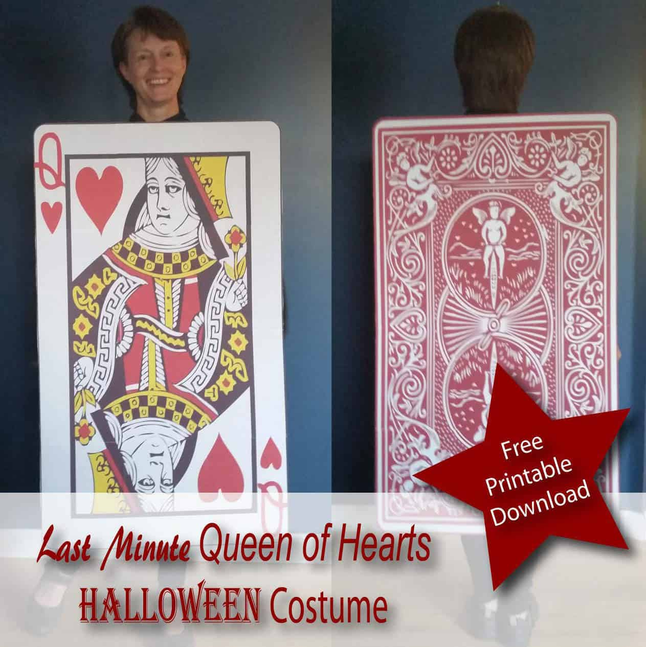 Last minute queen of hearts card costume upcycled free printable last minute queen of hearts card costume upcycled free printable recyclart solutioingenieria Gallery
