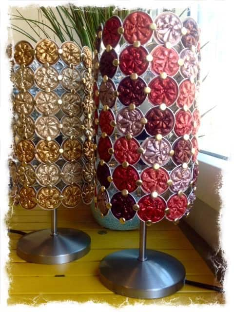Used Nespresso Capsules Into Lamps Recyclart