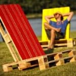 Two Pallets Lounge Chairs