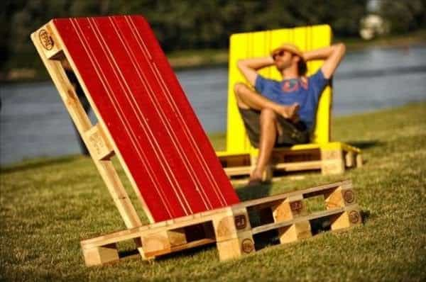 Two Pallets Lounge Chairs Recycled Pallets