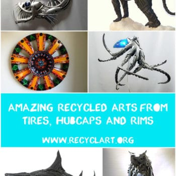 Amazing Recycled Arts From Tires, Hubcaps & Rims