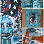 Painting On Reclaimed & Recycled Things