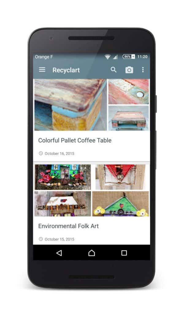 Recyclart Android App Is Available Accessories By Materials Clothing Do-It-Yourself Ideas Garden Ideas Home Improvement Interactive, Happening & Street Art Lamps & Lights Recycled Art Recycled Furniture Recycled Packaging Recycled Sports Equipment Upcycled Bicycle Parts Upcycled Jewelry Ideas