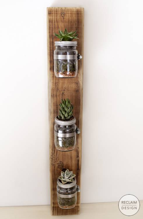 Small Flower Pots Made From Upcycled Pallets Recycled Pallets