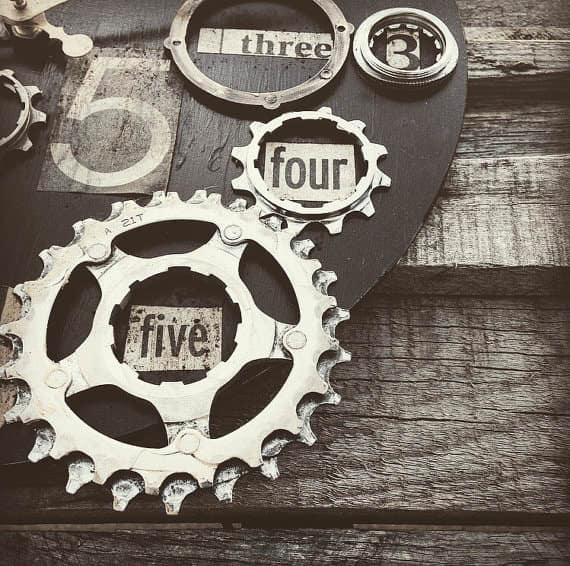 Bike Enthusiast Clock Accessories Upcycled Bicycle Parts