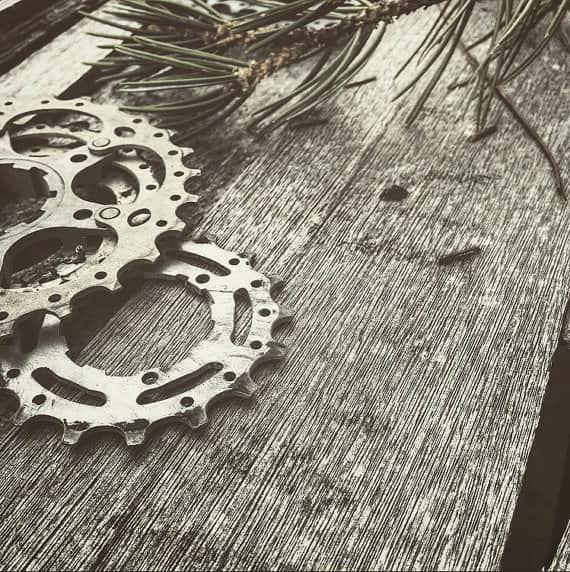 Upcycled Bike Gear Into Ornaments Upcycled Bicycle Parts