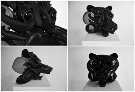 Bear Made From Discarded Plastic Parts