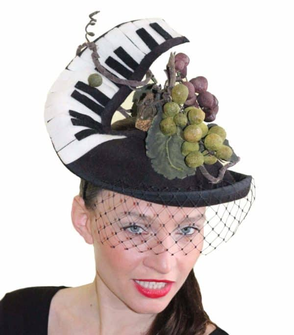 Cork Recycled Art Piano Hat Accessories Recycled Cork