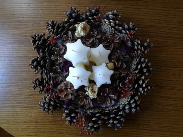 Advenski Vjencic / Advent Wreath Do-It-Yourself Ideas Wood & Organic