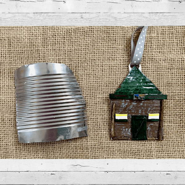 Eco-friendly Holiday Ornaments Recycled Art