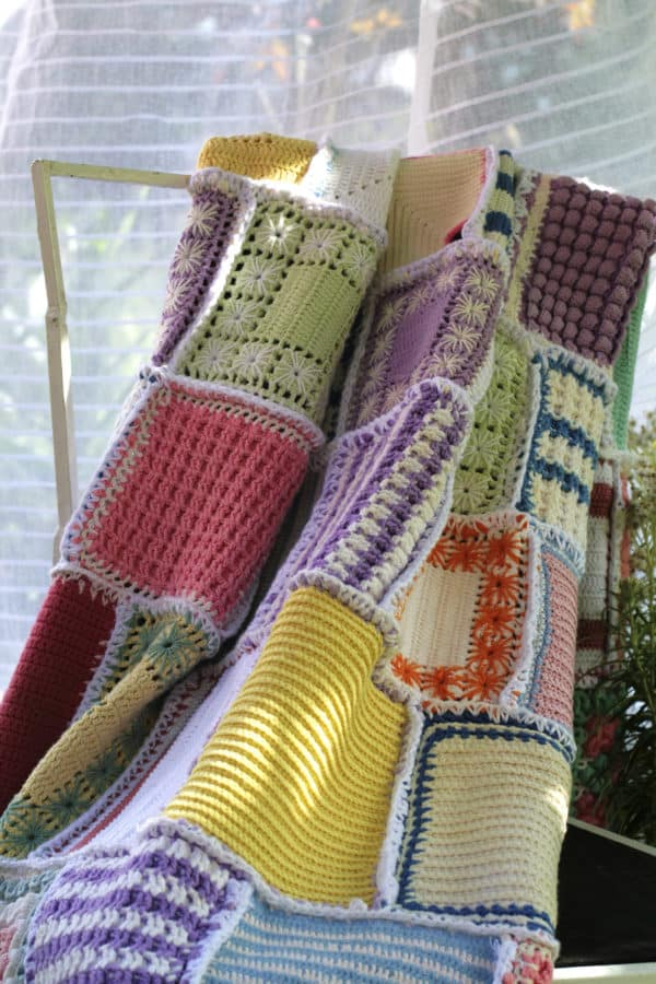 Blanket Made of Pot Holders Clothing