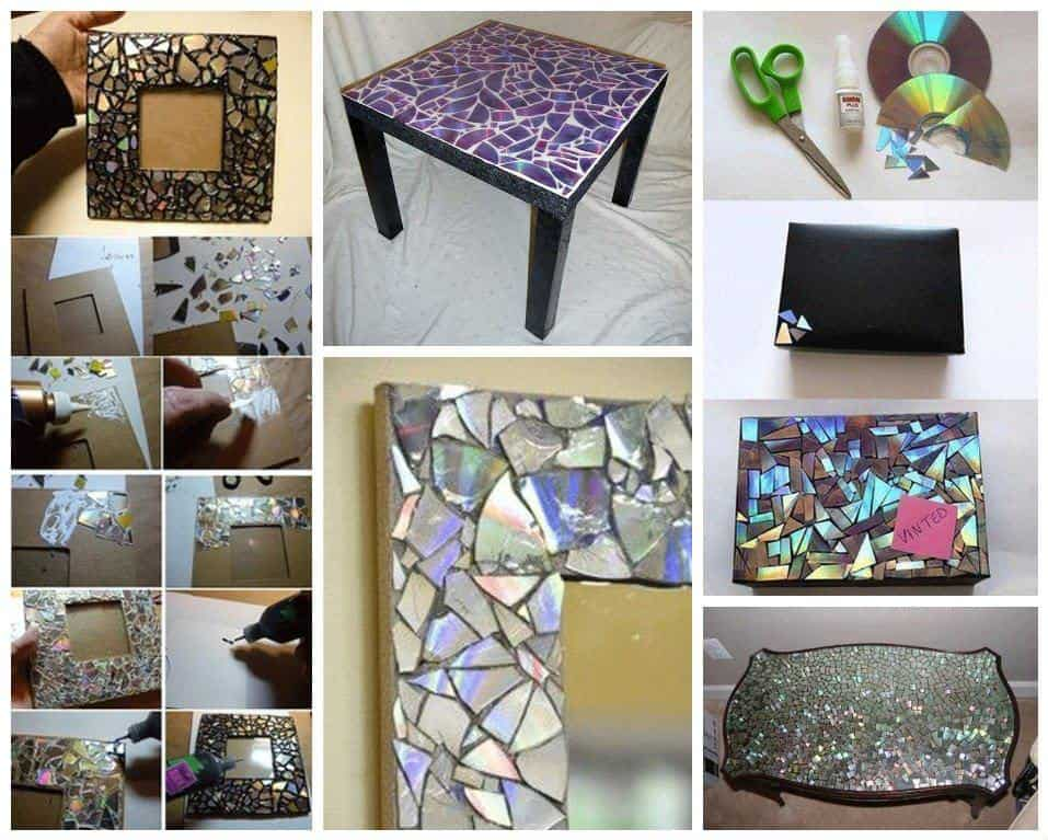 Easy ideas to reuse old cd s recyclart for Recycling furniture decorating ideas