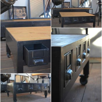 Binary coffee table recyclart - Table basse industrielle ...