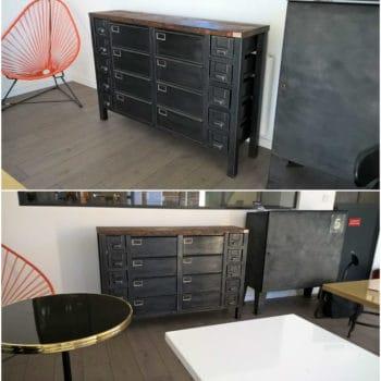 Industrial Metal Sideboard / Enfilade Métallique Industrielle