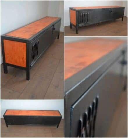 Industrial Wood & Metal TV Stand / Meuble TV Bois Et Métal Néo Industriel