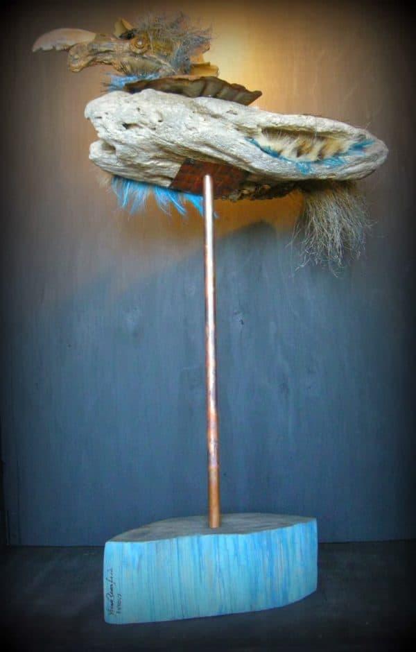 Oiseau En Bois Flotté / Driftwood Bird Recycled Art Wood & Organic