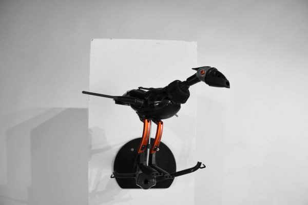Prehistoric Bird On A Branch Made From Recycled Electronic Components Recycled Art Recycled Electronic Waste