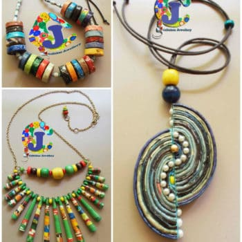 Upcycled Magazine Paper Jewelry