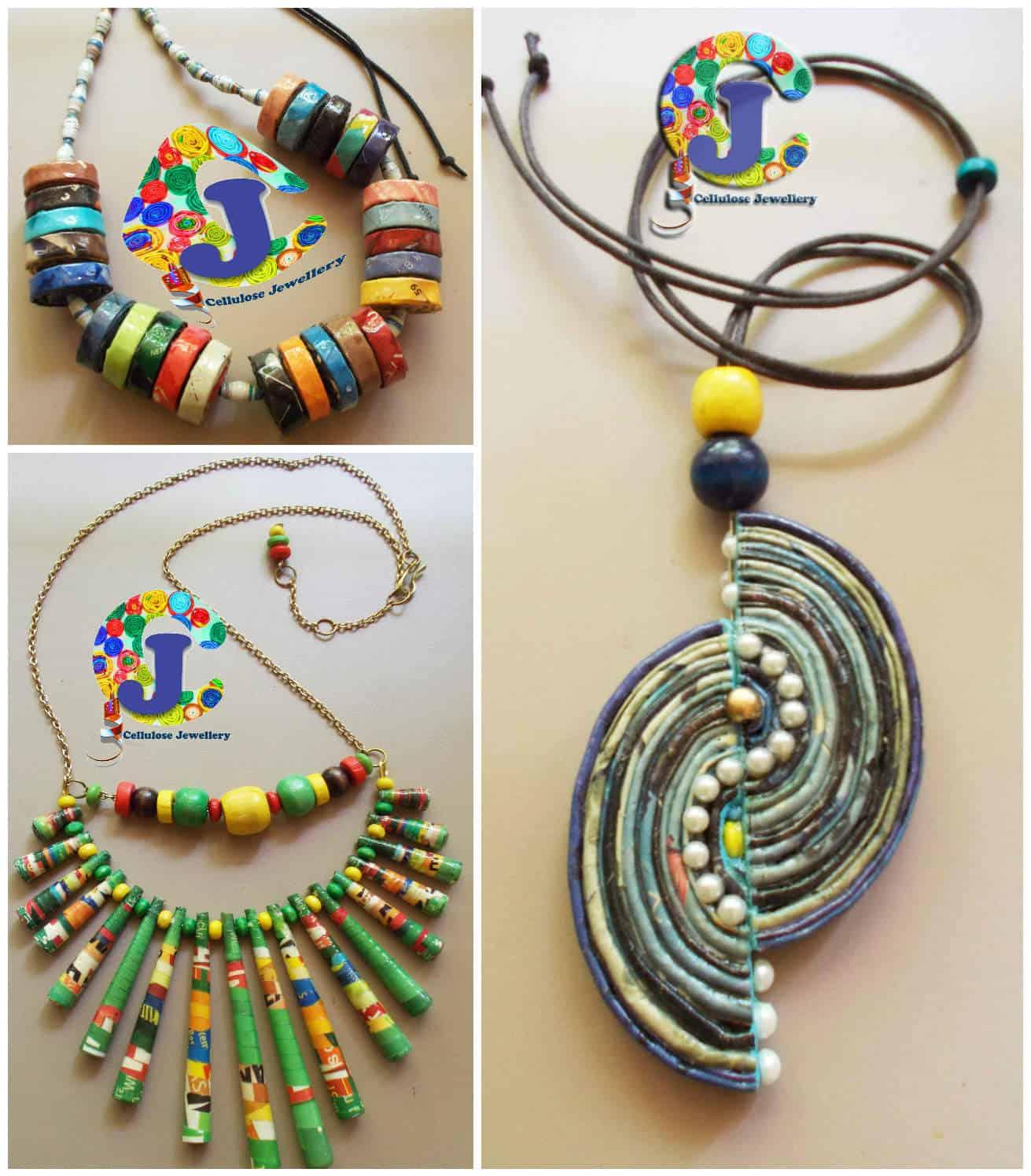 Upcycled Magazine Paper Jewelry Recyclart