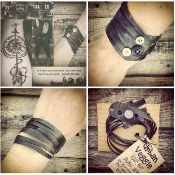 "Vegan ""Leather"" Bracelets a.k.a. Bike Innertube Bracelets"