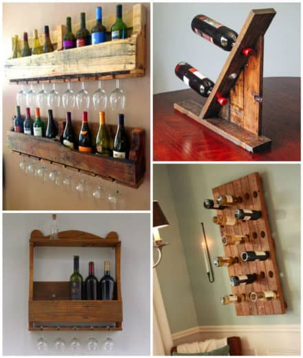 Wine Racks Made From Recycled Pallet Wood