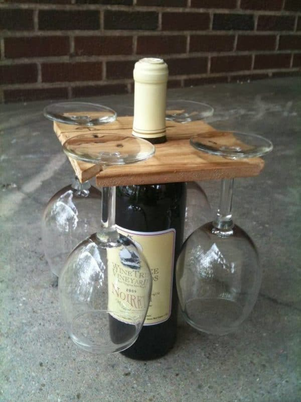 Wine Racks Made From Recycled Pallet Wood Recyclart