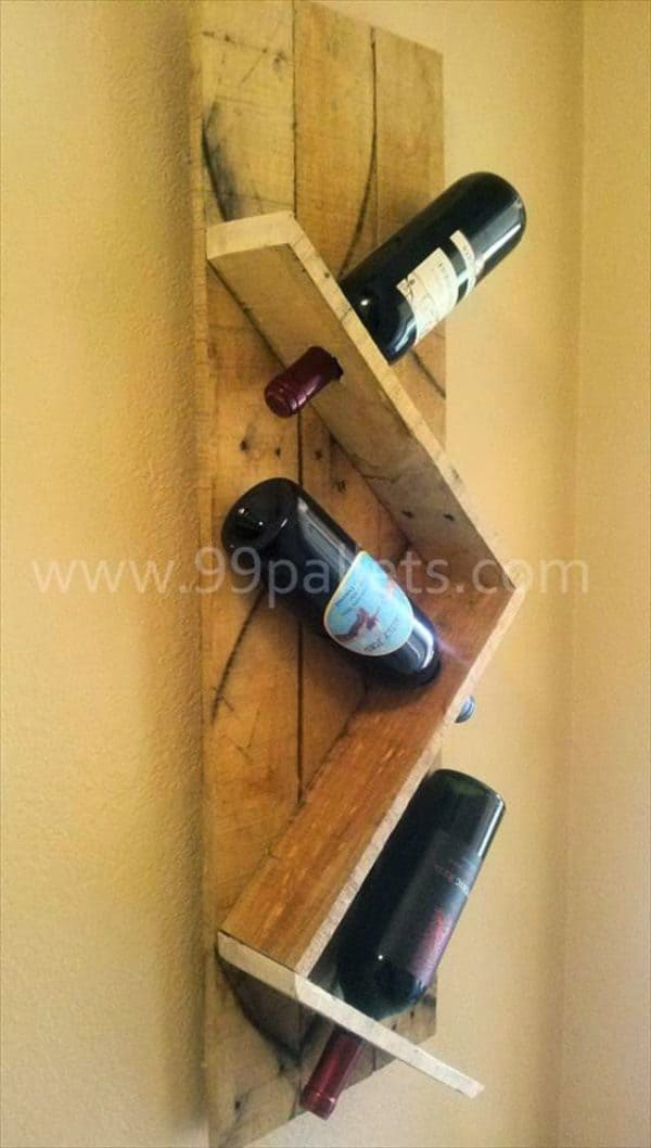 Wine racks made from recycled pallet wood recyclart for What can you make with recycled pallets