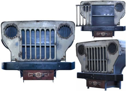 Old Vintage Jeep Repurposed Into Cabinet