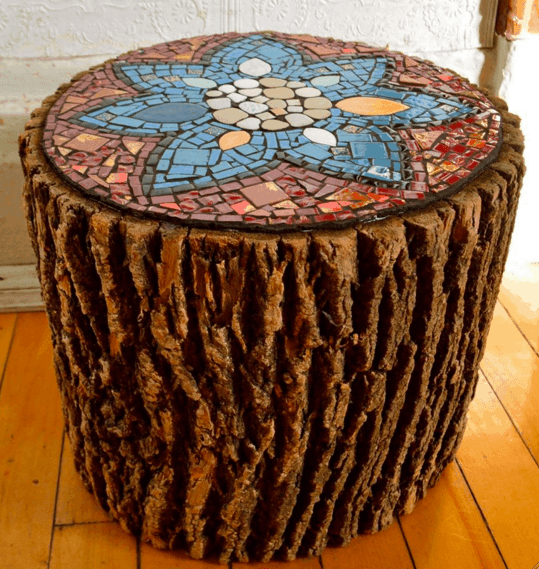 Beautiful Way Of Reusing Old Wood Logs With Ceramics Into