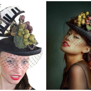Cork Recycled Art Piano Hat