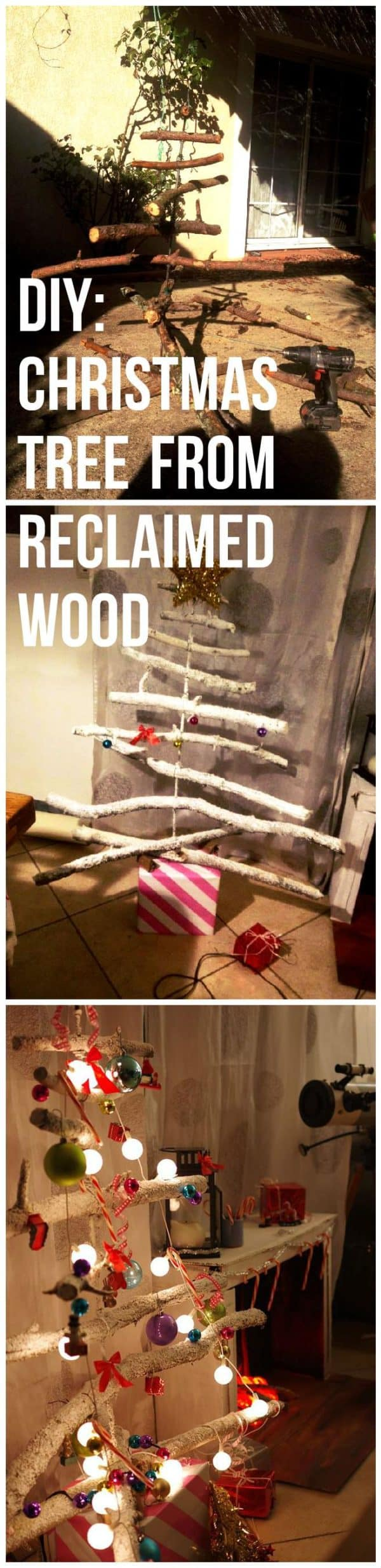 Diy Christmas Tree From Old Branches Wood & Organic