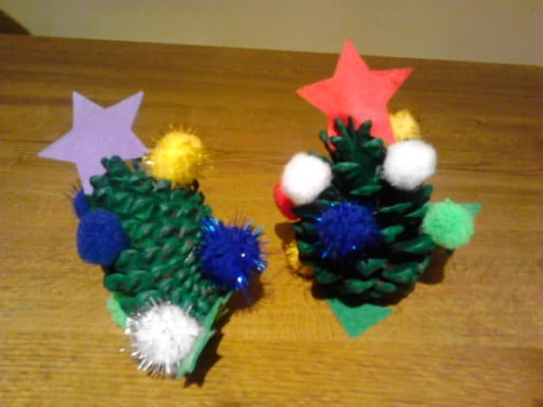 Fun Christmas Crafts with Kids Made from Pinecones Accessories Home & décor
