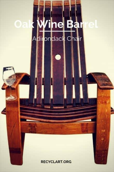 Oak Wine Barrel Adirondack Chair
