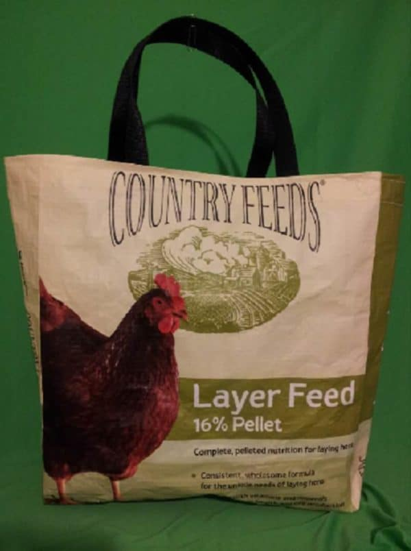 Recycled 50lb Feed Sacks into Shopping Bag Recycled Packaging