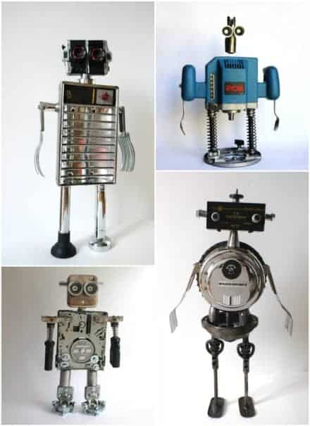 Robot Maker From Found Objects